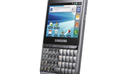 Połączenie systemu Android ze sprzętową klawiaturą QWERTY - biznesowy Samsung GALAXY Pro