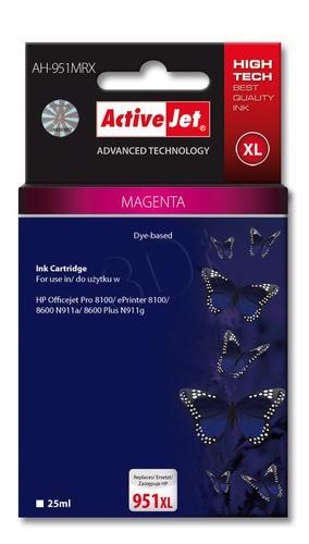 ActiveJet AH-951MRX tusz magenta do drukarki HP (zamiennik HP 951XL CN047AE) Premium