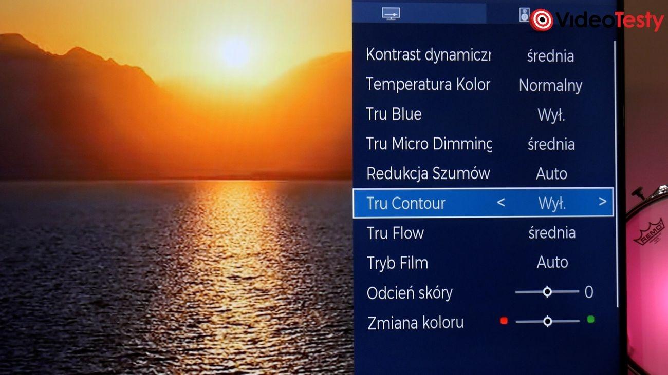 Toshiba 58UL4B63DG menu konfiguracji obrazu
