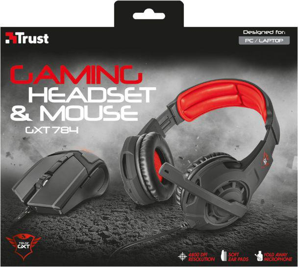 Trust GXT 784 Gaming headset & mouse (21472)