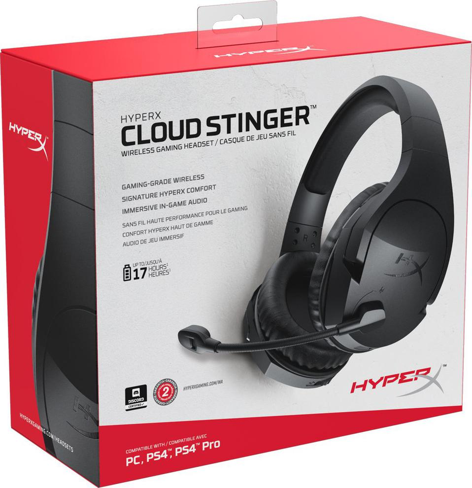 HyperX Cloud Stinger - Wireless Czarne