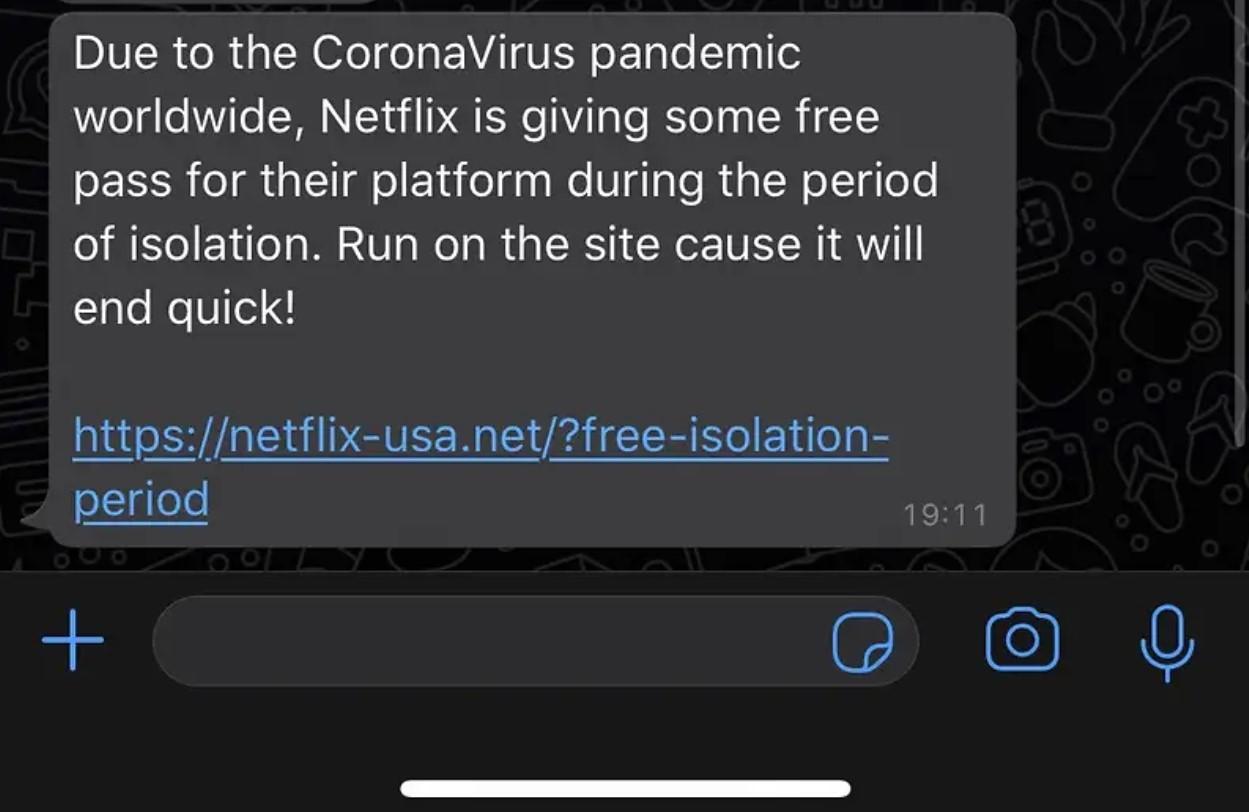 komunikat dotyczący oszustwa na netflixa
