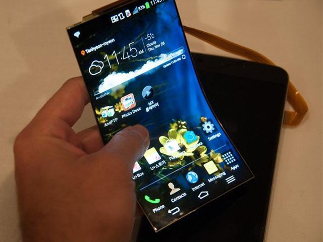 Zagięty Smartfon