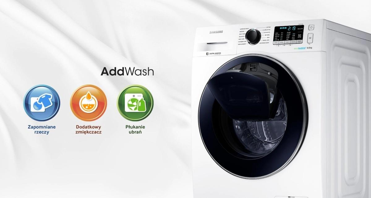 Pralka Samsung Addwash pozwala dołożyć pranie nawet po uruchomieniu