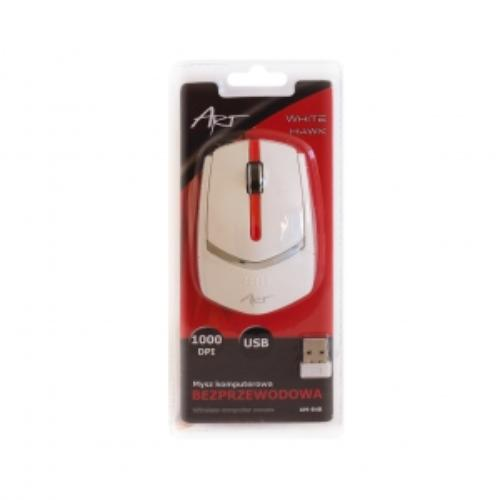 ART Mysz bezprzewodowo-optyczna AM-84B biała