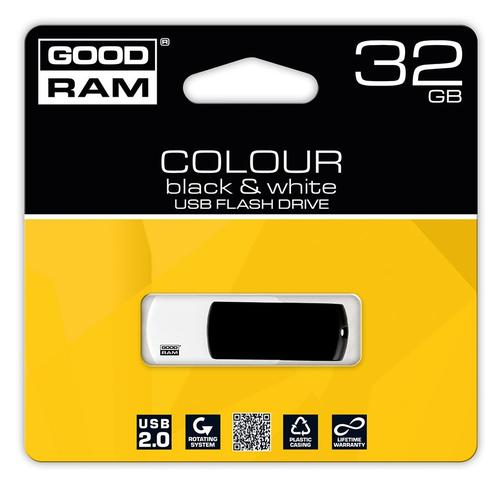 GoodRam Color Mix 32GB USB 2.0 Czarno Biały