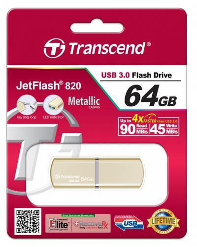 Transcend JETFLASH 820 64GB USB3.0 Luxary Series 90/45 MB/s