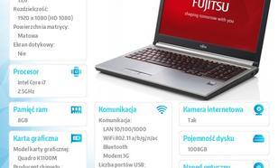 Fujitsu Lifebook H730 W8/7P i7-4710MQ/2x4GB/SSHD1TB+8GB SSD LKN:H73