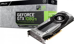 PNY Technologies GeForce GTX 1080 Ti Founders Edition 11GB GDDR5X (352 bit), HDMI, 3x DP, BOX (GF108IGTX11EPB)