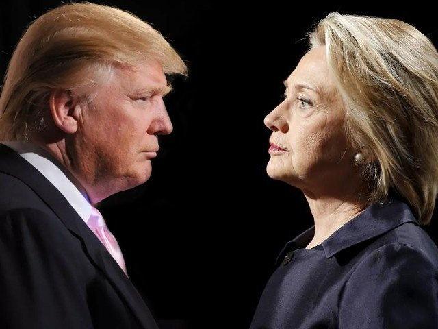 Donald Trump vc Hillary Clinton