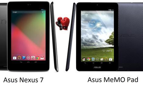 Asus MeMO Pad vs Nexus 7 - porównanie popularnych tabletów