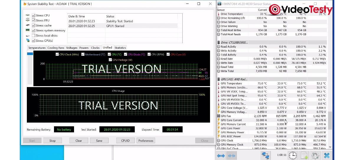 MSI MAG Forge 100M - AIDA 64 GPU
