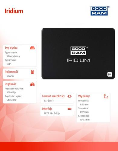 GoodRam Iridium 480GB SATA3 2,5 560/530MB/s