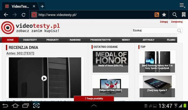 Recenzja tabletu Samsung Galaxy Tab 2 7.0