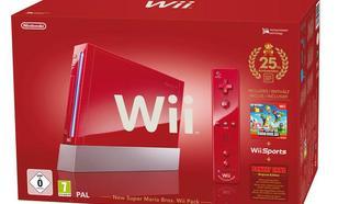 Nintendo Wii (czerwona NSMB Pack)