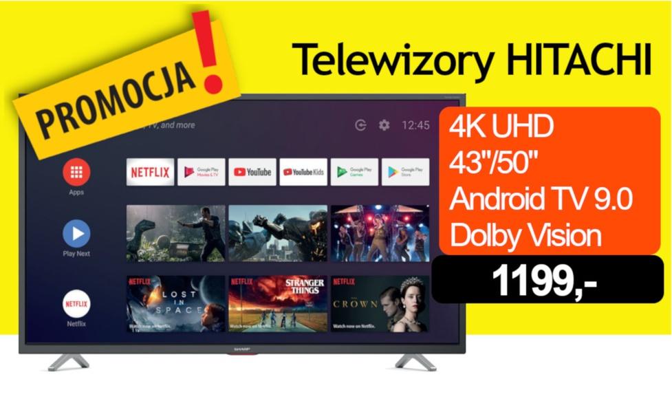 Telewizor 4K, Android TV, Dolby Vision w PROMOCJI za 1199 zł!