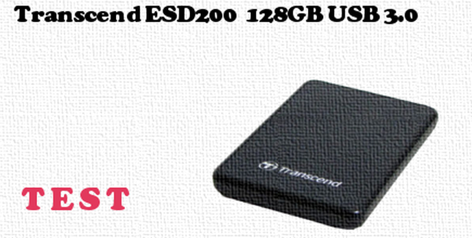 Transcend ESD200 128GB USB 3.0 test dysku zewnętrznego
