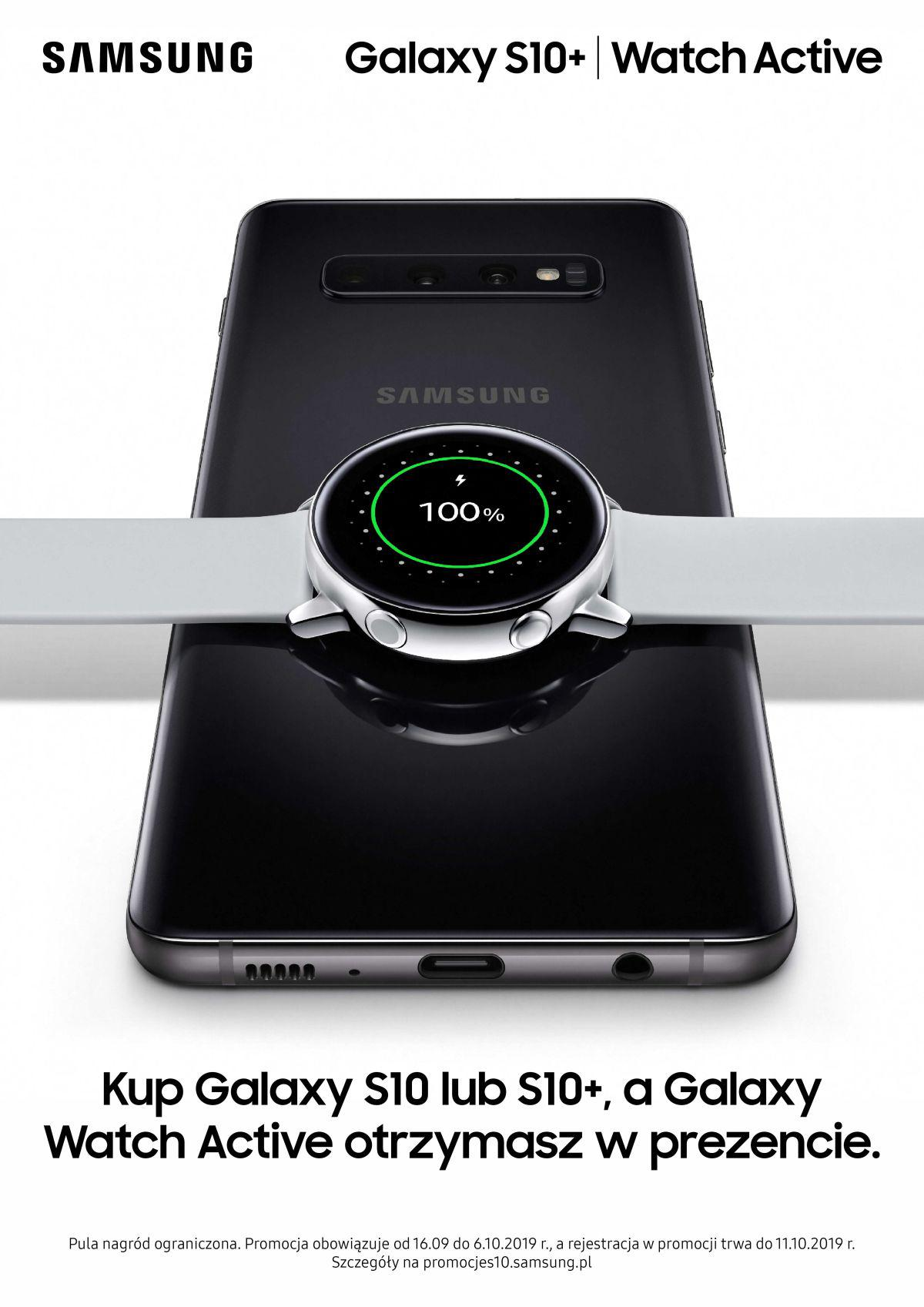 samsung galaxy watch active promocja