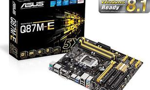 Asus Q87M-E, Q87, DualDDR3-1600, SATA 3, RAID, HDMI, DVI, D-Sub, DP, mATX (Q87M-E)