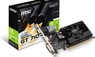 MSI GeForce GT710 2GB DDR3 (64 Bit) DVI-D, HDMI, D-Sub, BOX (GT 710 2GD3 LP)