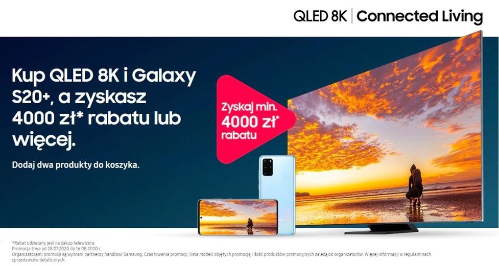 Promocja od Samsunga - QLED 8K i Galaxy S20+ 4G w zestawie o co najmniej 4000 zł taniej!