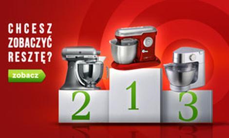 Czołowe Roboty Kuchenne - TOP 10 Sierpień 2015