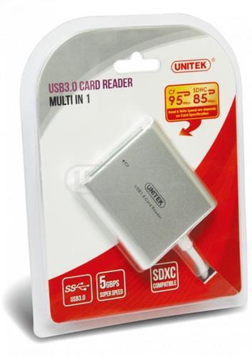 UNITEK CZYTNIK KART PAMIĘCI ALL-IN-ONE USB 3.0; Y-9313