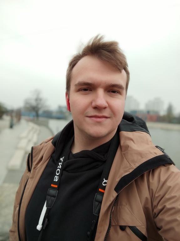 Xiaomi Mi 10 - selfie z odcięciem