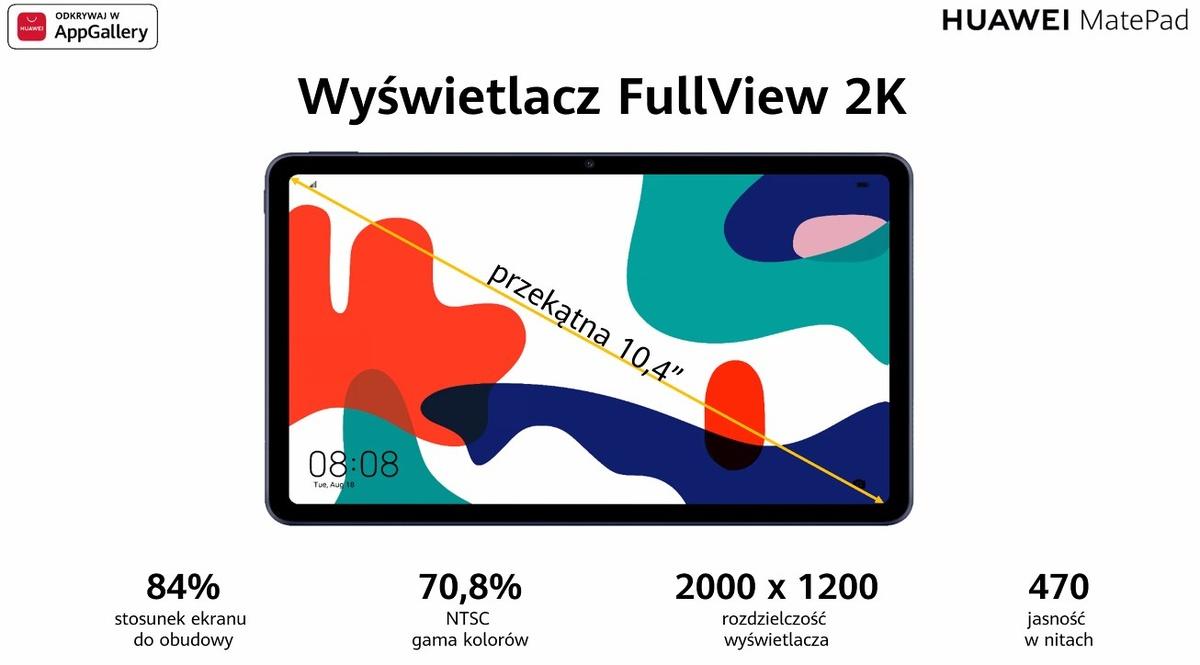 Huawei Matepad zaoferuje ekran 10,4 cala