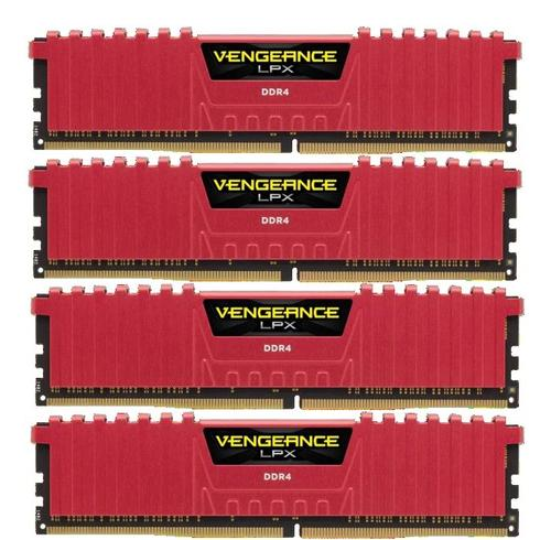 Corsair DDR4 Vengeance LPX 16GB /2666 (4*4GB) RED CL16-18-18-35