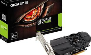 Gigabyte GeForce GTX 1050 Low Profile 2GB GDDR5 (128 bit), DVI-D, 2xHDMI, DisplayPort, BOX (GV-N1050-2GL)