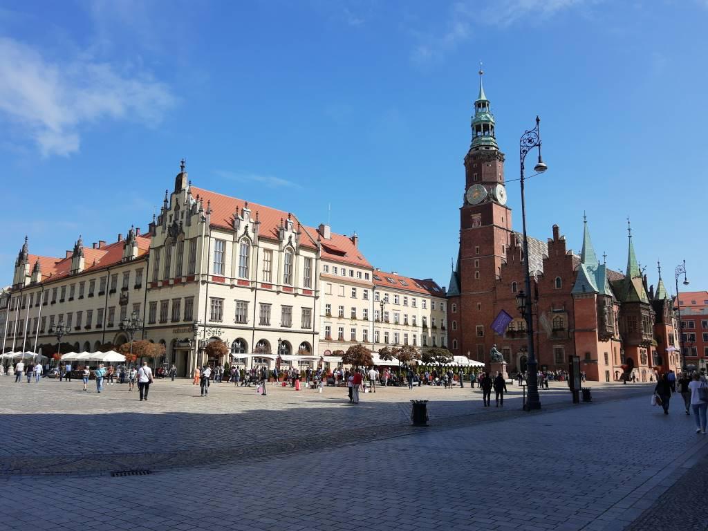 Motorola One Action - zdjęcie rynku we Wrocławiu