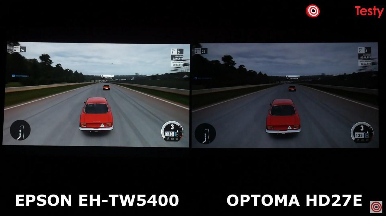 Epson EH-TW5400 vs Optoma HD27e porównanie obrazy gry
