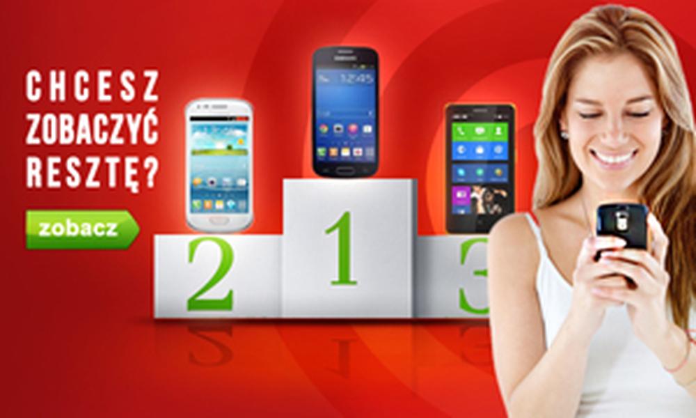 Ranking Smartfonów - Najpopularniejsze Telefony z Września 2014