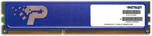 Patriot DDR3 4GB Signature 1600MHz CL11 512x8 1 rank - radiator
