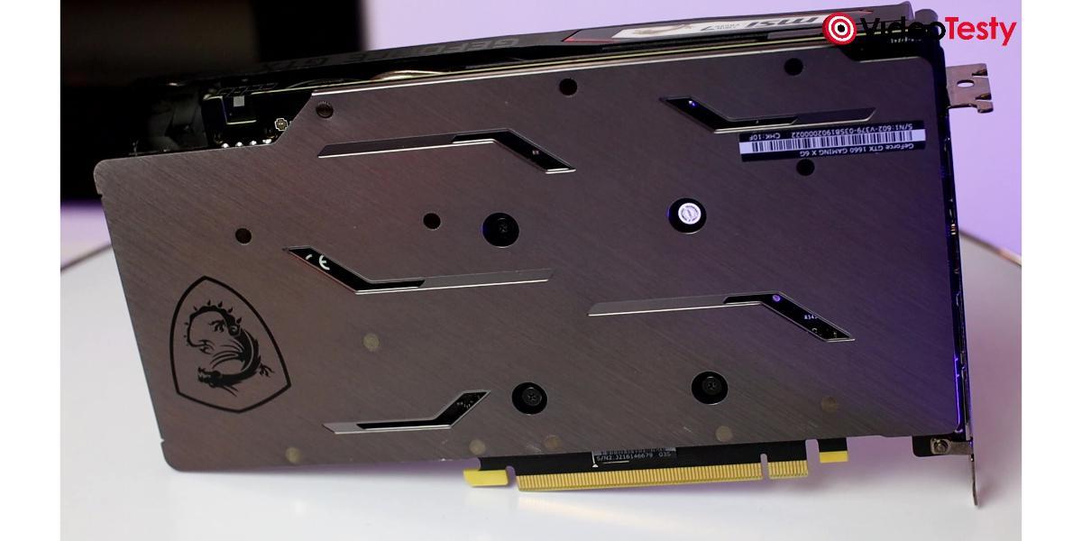 Backplate w MSI GTX 1660 GAMING X