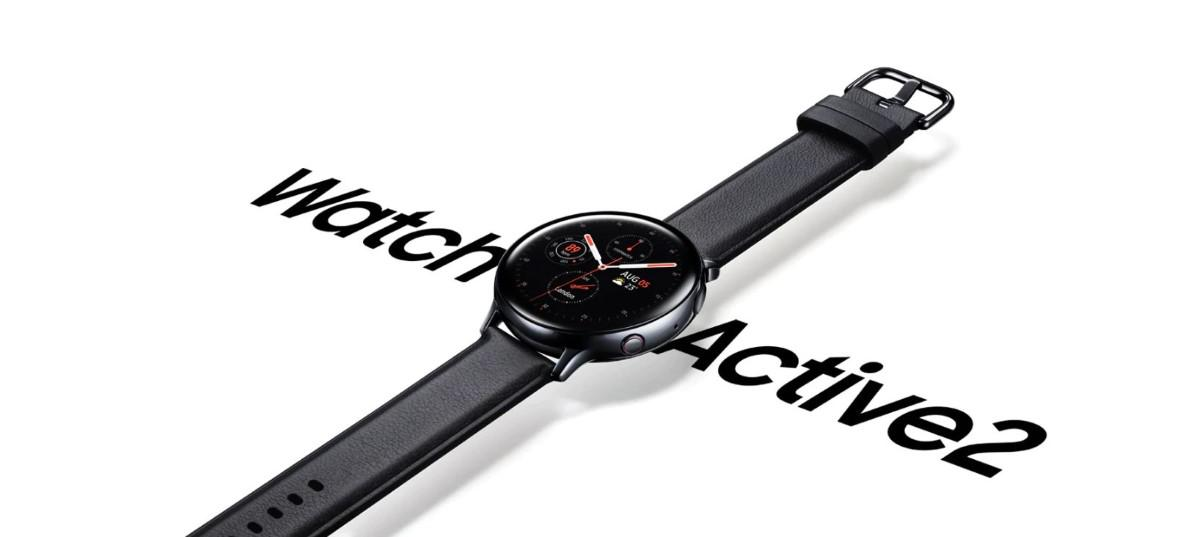 Samsung Galaxy Watch Active 2 na białym tle