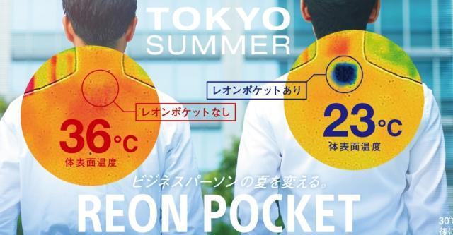 Reon Pocket może zarówno chłodzić, jak i podgrzewać ciało (Zdj: Sony)