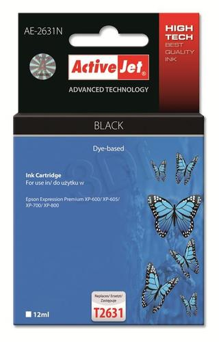 ActiveJet AE-2631N tusz czarny do drukarki Epson (zamiennik Epson T2631) Supreme