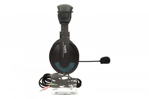 NATEC Słuchawki GRIZZLY + Mikrofon Black-Blue