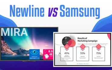 Newline Mira i Samsung Flip 2 - Pojedynek monitorów interaktywnych