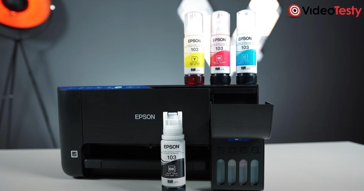 Drukarka Epson EcoTank L3156 pozwala oszczędzać tusz dzięki podajnikom