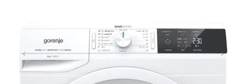 Gorenje WEI64S3 panel sterowania i wyświetlacz