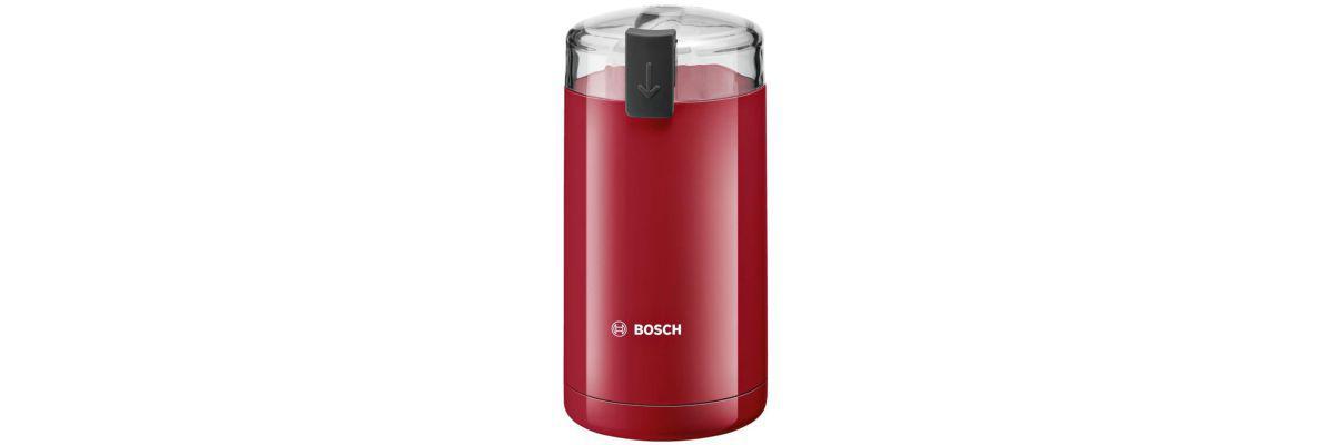 młynek do kawy marki Bosch w kolorze czerwonym