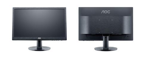 AOC 19.5'' e2060Swda LED DVI Głośniki Czarny