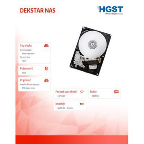 HGST DESKSTAR NAS Drive Kit 6TB 7200rpm SATA 128MB v2 EMEA