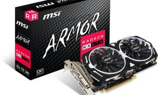 MSI Radeon RX 570 ARMOR OC 8GB GDDR5 (256 Bit), DVI-D, HDMI, 3xDisplayPort, BOX (RX 570 ARMOR 8G OC)