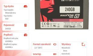 """Kingston V300 SERIES 240GB SATA3 2,5"""" 450/450MB/s 7mm Bundle Kit"""