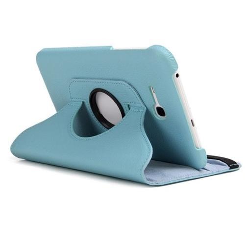 "WEL.COM Etui obrotowe Samsung Galaxy Tab 4 8"" błękitne"