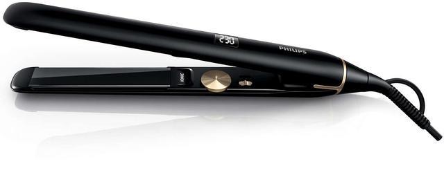 czarna prostownica do włosów Philips Pro HPS930/00 design